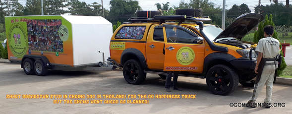 Go Happiness Truck Break Down in North Thailand