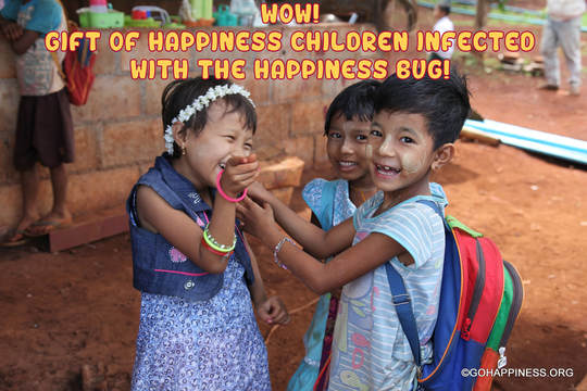 wow! Gift of Happiness Children Infected With The HAPPINESS Bug!
